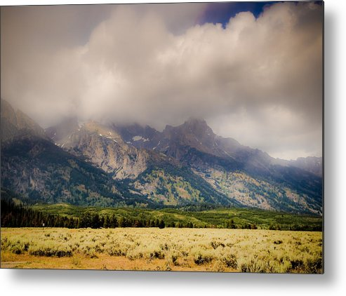 Mountains Metal Print featuring the photograph Grand Tetons by Patrick Flynn