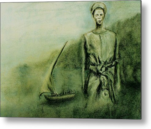 Woman Metal Print featuring the drawing A Bunyakyusa Woman by Mushtaq Bhat