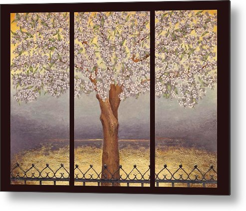 Almond Metal Print featuring the painting Almond Tree by Barbara Gerodimou