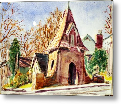 Watercolor Metal Print featuring the painting Along Big Bend Blvd. by Horacio Prada