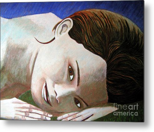 Identity (symbolic Art) Metal Print featuring the painting Am I My Body My Beauty by Tanni Koens