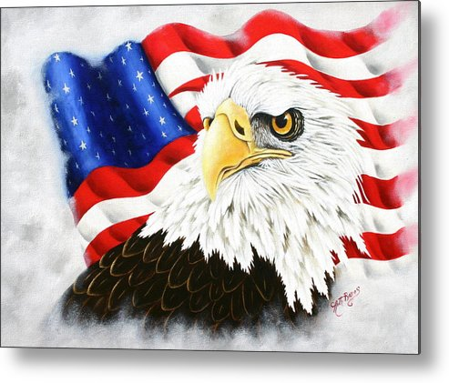 Eagle Metal Print featuring the painting Americas Pride by Ruth Bares