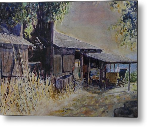 Farmhouse Metal Print featuring the painting An Old Friend by Jan Rapp