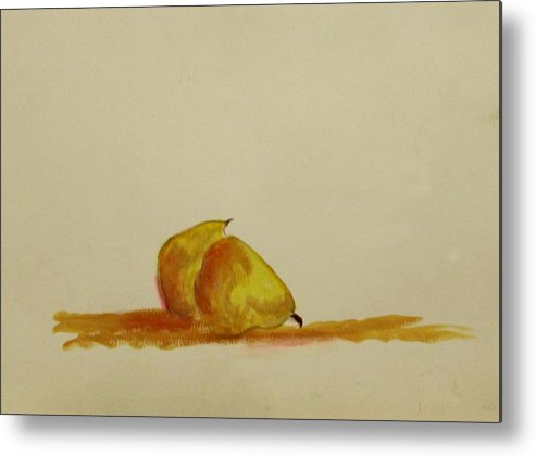 Fruit Metal Print featuring the painting Anjou Pears by Michela Akers