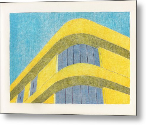 Architecture Metal Print featuring the drawing Art Deco by Eric Forster