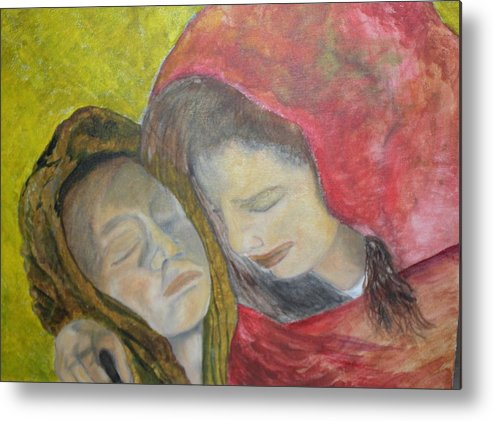 New Artist Metal Print featuring the painting At Last They Sleep by J Bauer