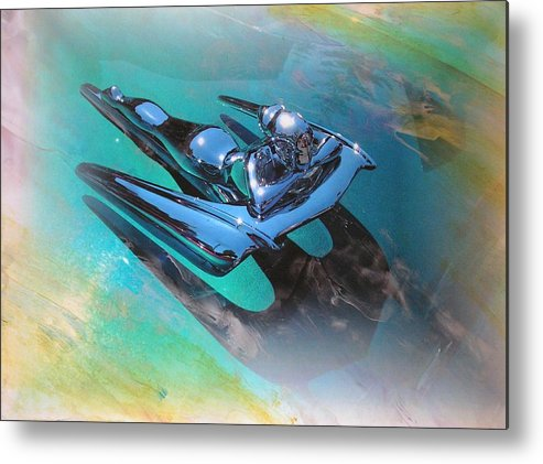 Digital Wax Mixed Media Metal Print featuring the mixed media Auto Series 4 by John Vandebrooke
