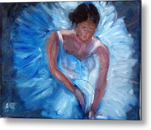 Ballet Metal Print featuring the painting Ballerina 1 by Lia Marsman