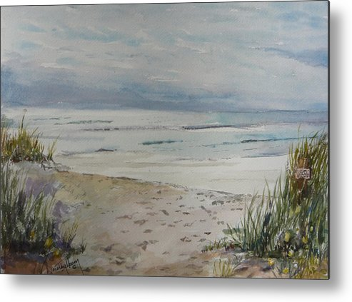 Ocean Metal Print featuring the painting Beach Front by Dorothy Herron