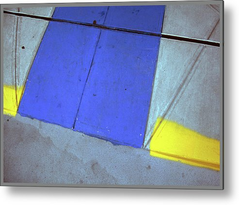 Pavements Metal Print featuring the photograph Blue And Yellow by Guy Ciarcia
