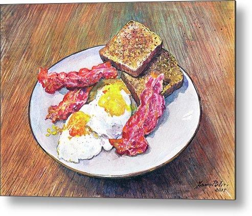 Breakfast Metal Print featuring the painting Breakfast Is Served by Franco Puliti
