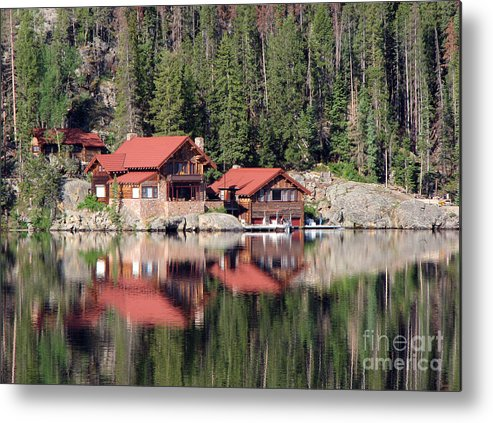 Cabin Metal Print featuring the photograph Cabin by Amanda Barcon