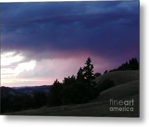 Nature Metal Print featuring the photograph Calm Before The Really Big Storm by JoAnn SkyWatcher