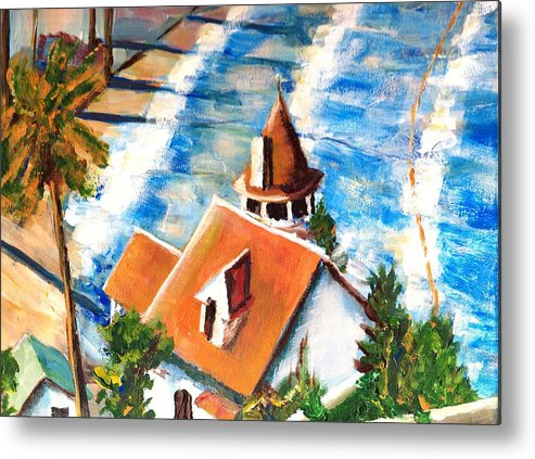 Catalina Metal Print featuring the painting Catalina Cottage Sold by Randy Sprout