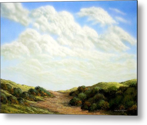 Landscape Metal Print featuring the painting Clouds Of Spring by Frank Wilson