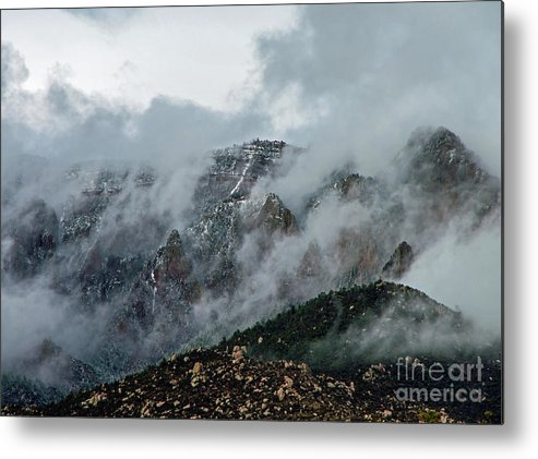 Sandia Metal Print featuring the photograph Clouds Over Sandia by Stephen Whalen