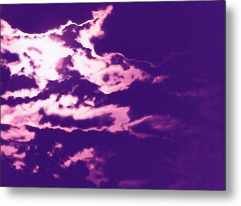 Moon Metal Print featuring the photograph Cloudscape II by Curtis Schauer