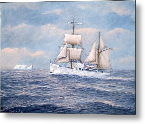 Coast Guard Metal Print featuring the painting Coast Guard Cutter Northland by William H RaVell III