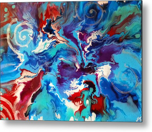 Winds Metal Print featuring the painting Convergence Of The Four Winds by Michelle Vyn