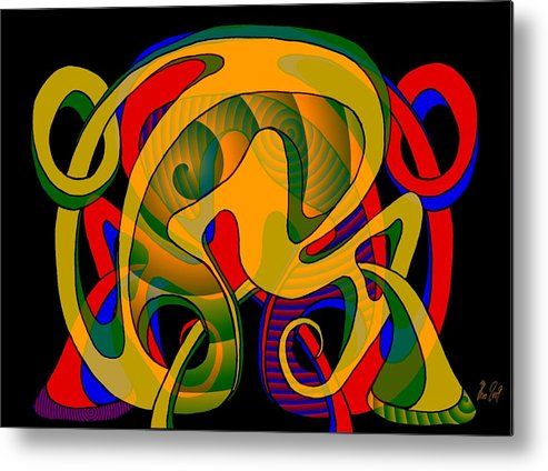 Life Metal Print featuring the digital art Corresponding Independent Lifes by Helmut Rottler