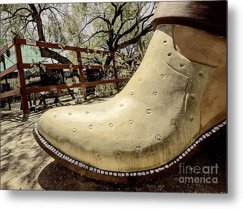 Cowboy Boot Metal Print featuring the photograph Cowboy Boot by Elisabeth Lucas