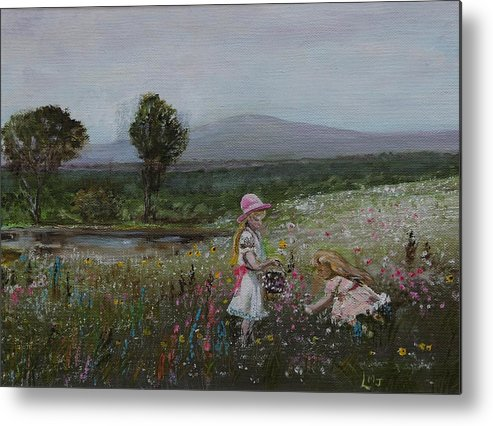 Impressionist Metal Print featuring the painting Delights Of Spring - Lmj by Ruth Kamenev