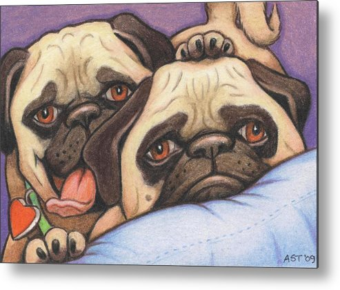 Dog Metal Print featuring the drawing Did Someone Say Cookie by Amy S Turner