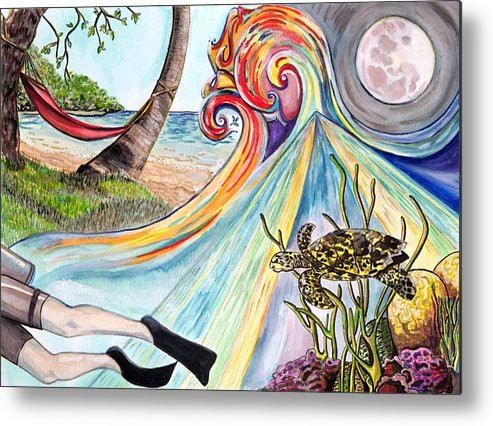 Surreal Metal Print featuring the painting Drink Deeply by Starr Weems