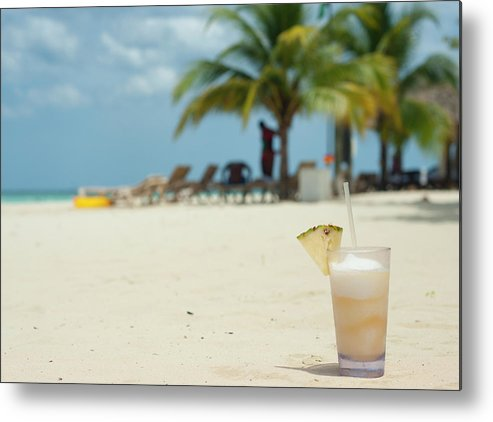 Beachscape Metal Print featuring the photograph Drink In The Sand by Dennis Ludlow