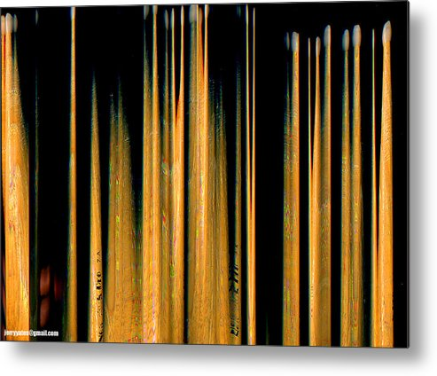Drumstick Metal Print featuring the photograph Drumstick by Gerard Yates