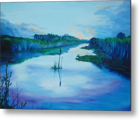 Sunrise Metal Print featuring the painting Early Morn by Blaine Filthaut