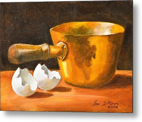 Pot Metal Print featuring the painting Eggshell by Joni Dipirro