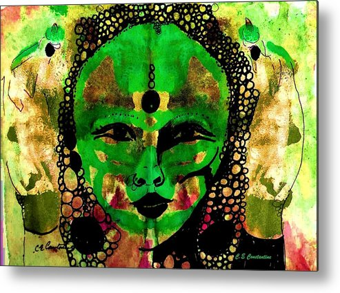 Goddess Metal Print featuring the painting Energy Goddess by C E Constantine