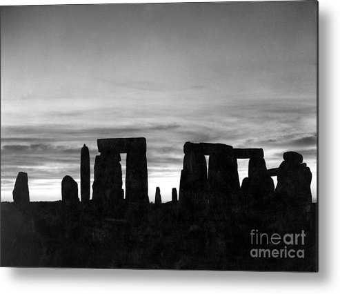 Ancient Metal Print featuring the photograph England: Stonehenge by Granger