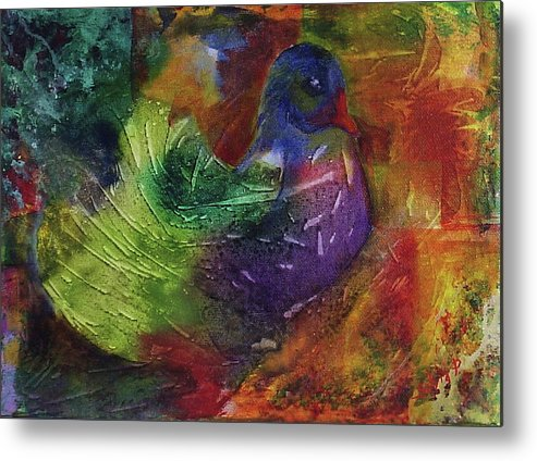 Animal Metal Print featuring the painting Fantasy Bird by Silvia Philippsohn