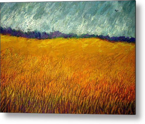 Field Metal Print featuring the painting Field At Noon by Kent Whitaker