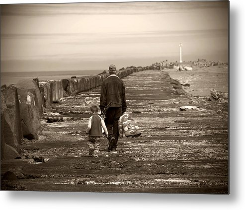 Fishing Metal Print featuring the photograph Fishing With Grandpa by Jessica Wakefield