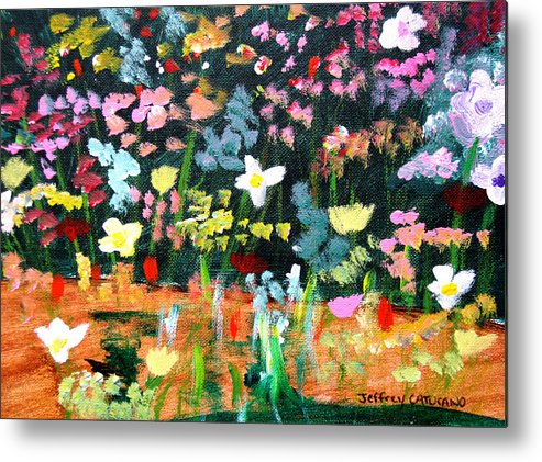 Flowers Metal Print featuring the painting Flower Detail by Jeff Caturano