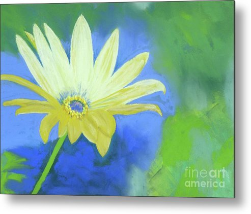 Flower Metal Print featuring the pastel Flower Power by Ginny Neece