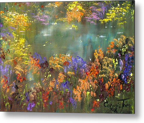 Connie Tom Metal Print featuring the painting Flowers And Grasses IIi by Connie Tom