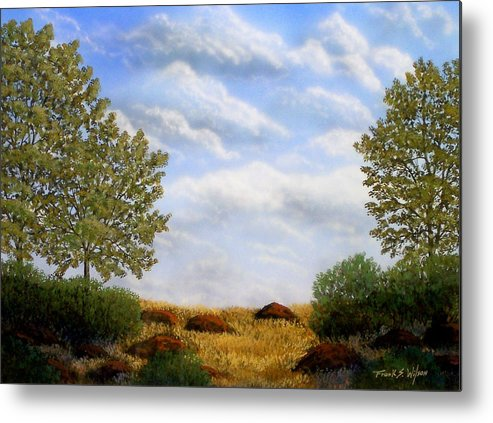 Landscape Metal Print featuring the painting Foothills Afternoon by Frank Wilson