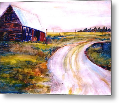 Barn Metal Print featuring the painting Freedman Farm by Joyce Kanyuk