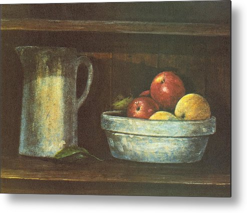Fruit Metal Print featuring the painting Fruit Bowl by Charles Roy Smith