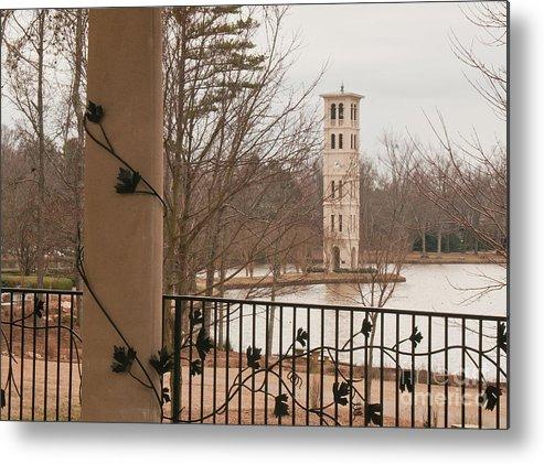 Furman University Metal Print featuring the photograph Furman Bell Tower 1 by David Waldrop