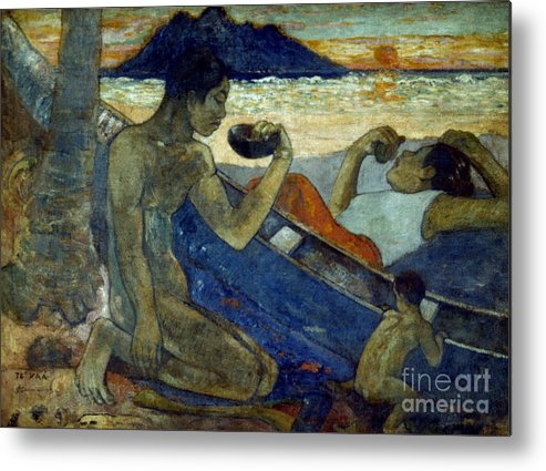 19th Century Metal Print featuring the photograph Gauguin: Pirogue, 19th C by Granger