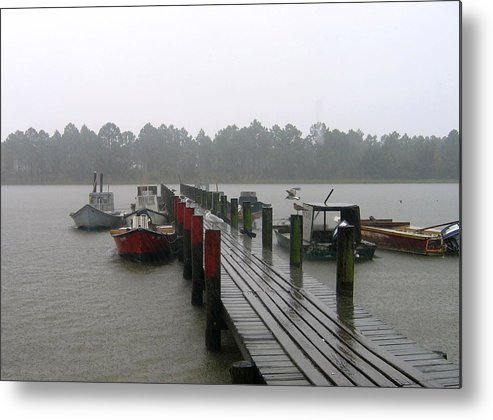 Boat Metal Print featuring the photograph Gettin' Wet by Rick McKinney