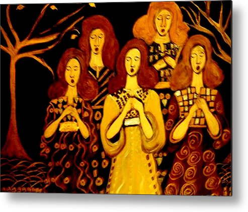 Choir Metal Print featuring the painting Golden Chords by Rusty Gladdish