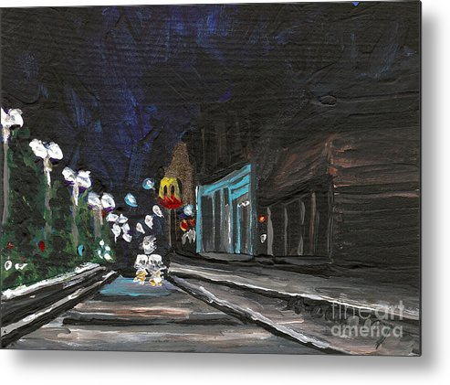 Cityscape Metal Print featuring the painting Granite City 5 by Helena M Langley