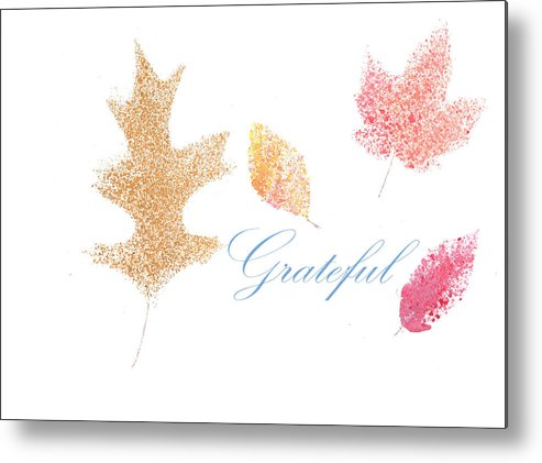 Grateful Metal Print featuring the painting Grateful by Haley Jula