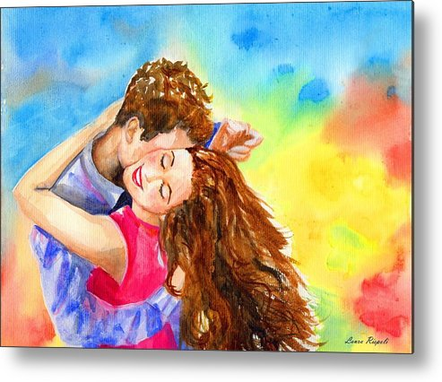 Cheerful Metal Print featuring the painting Happy Dance by Laura Rispoli